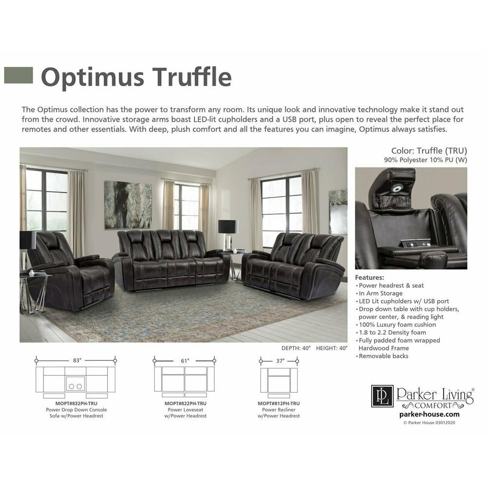 Product Image - OPTIMUS - TRUFFLE Power Loveseat