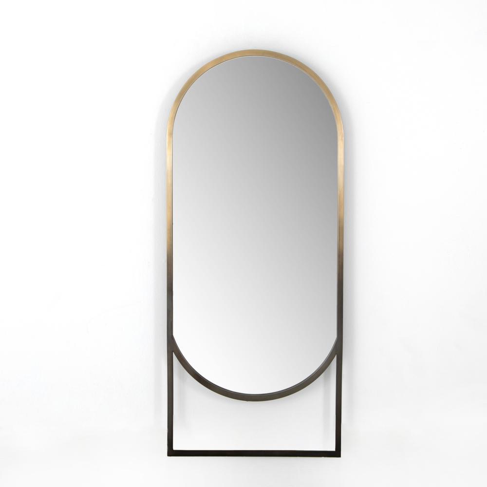 Ombre Brass Finish Dawson Floor Mirror