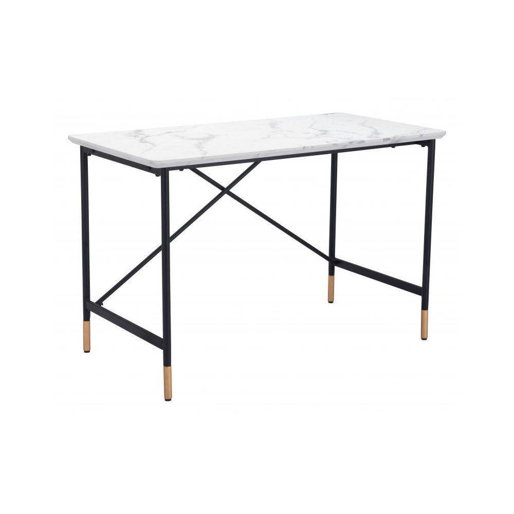 Burst Desk White & Black
