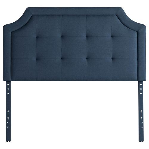 Scooped Square Tufted Upholstered Headboard Twin Charcoal