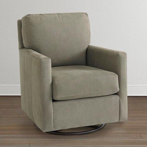 Product Image - Trent Leather Swivel Glider