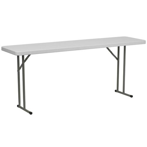 18''W x 72''L Granite White Plastic Folding Training Table