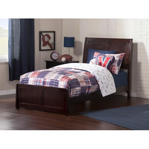 Portland Twin Bed with Matching Foot Board in Espresso