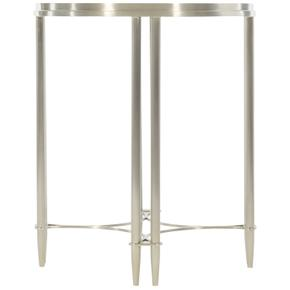 Allure Metal Round Drink Table in Silver Mist (399)