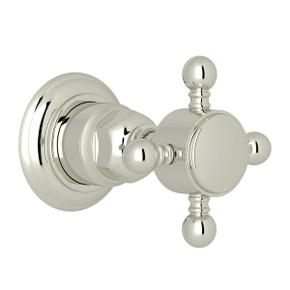 Trim for Volume Control and 4-Port Dedicated Diverter - Polished Nickel with Cross Handle