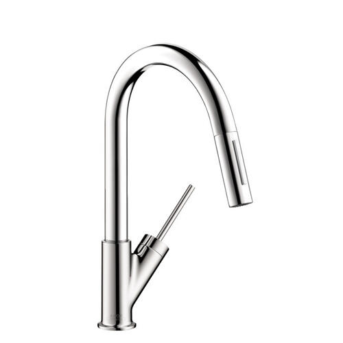 Chrome Prep Kitchen Faucet 2-Spray Pull-Down, 1.75 GPM