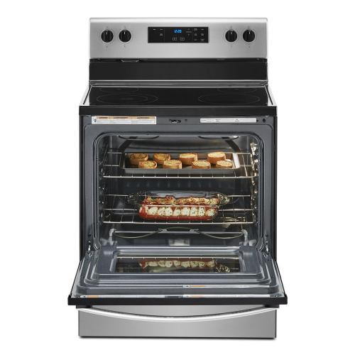 5.3 cu. ft. electric range with Keep Warm Setting.