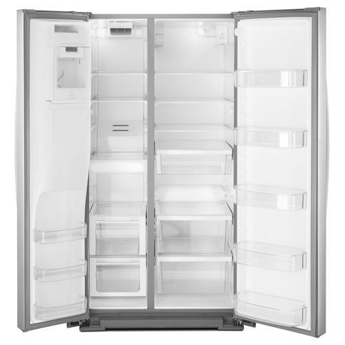 Whirlpool - 36-inch Wide Side-by-Side Refrigerator - 28 cu. ft. Fingerprint Resistant Stainless Steel