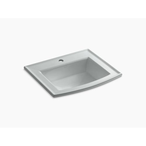 Ice Grey Drop-in Bathroom Sink With Single Faucet Hole