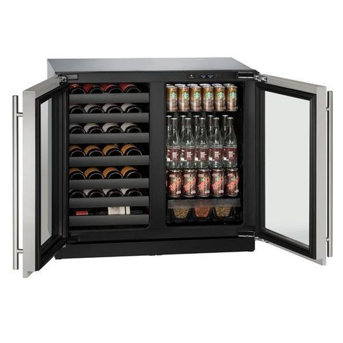 "36"" Beverage Center With Stainless Frame Finish (115 V/60 Hz Volts /60 Hz Hz)"