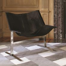 See Details - Cantilever Chair-Black Hair-on-Hide
