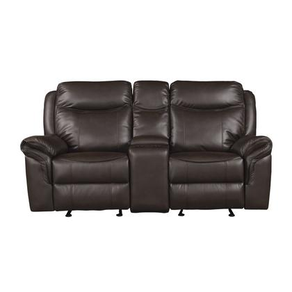 See Details - Double Glider Reclining Love Seat with Center Console, Receptacles and USB Ports