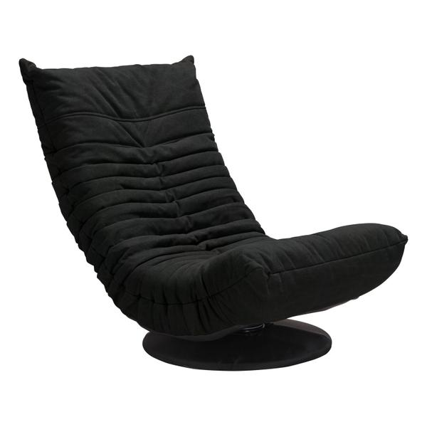 See Details - Down Low Swivel Chair Black