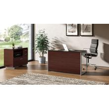 See Details - Sequel 20 6108 Compact Desk Back Panel in Chocolate Stained Walnut