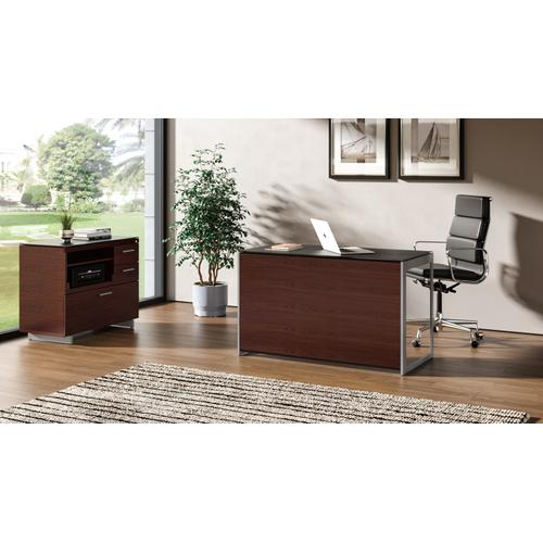 BDI Furniture - Sequel 20 6108 Compact Desk Back Panel in Chocolate Stained Walnut