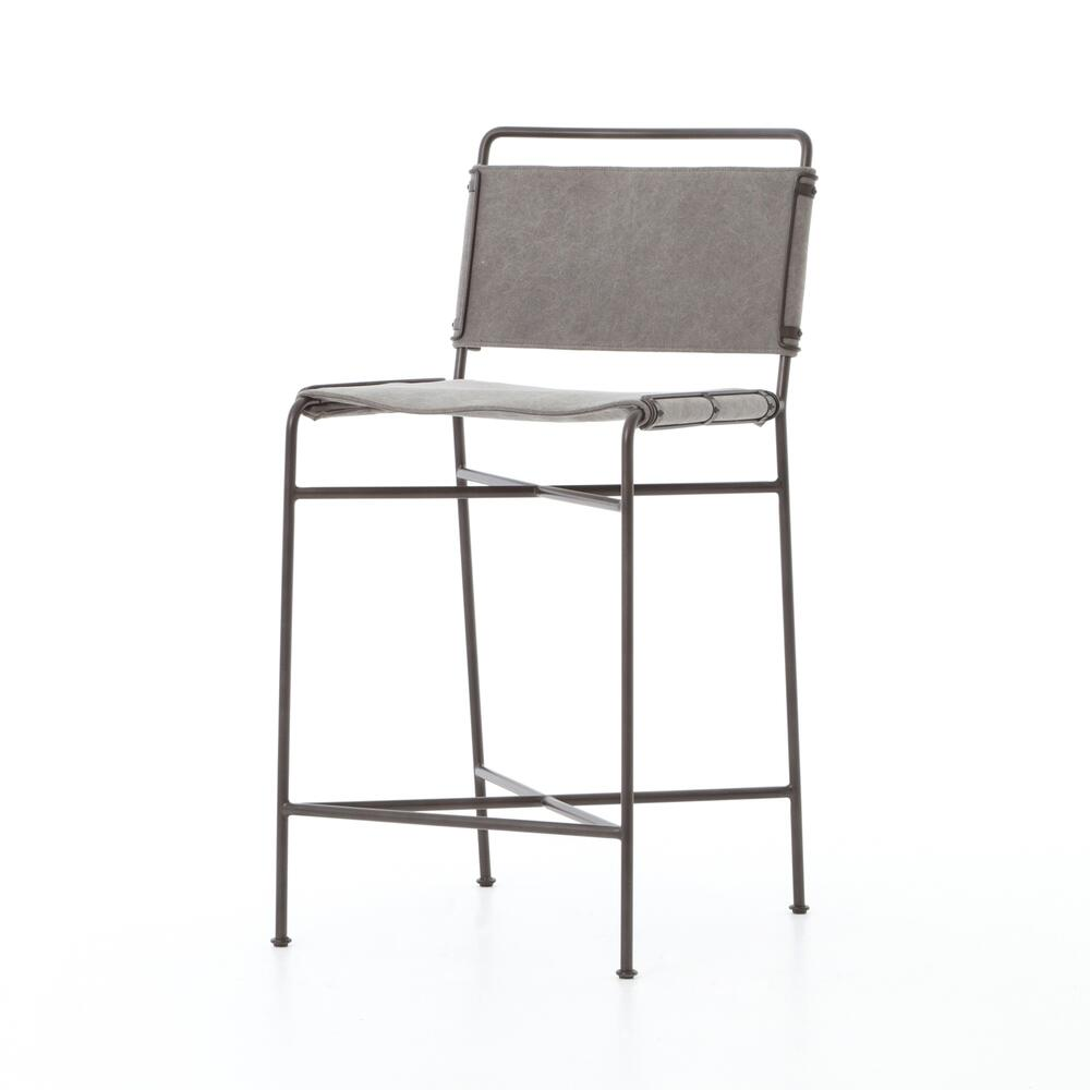 See Details - Counter Stool Size Stonewash Grey Cover Wharton Bar + Counter Stool