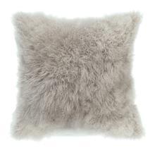 See Details - Cashmere Fur Pillow Light Grey