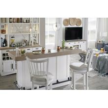 See Details - AMERICANA MODERN DINING Bar Complete 78 in. with quartz