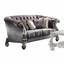 ACME Versailles Loveseat w/Pillows - 56826 - Velvet & Antique Platinum