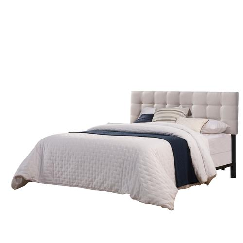 Delaney Full/queen Upholstered Headboard With Frame, Fog