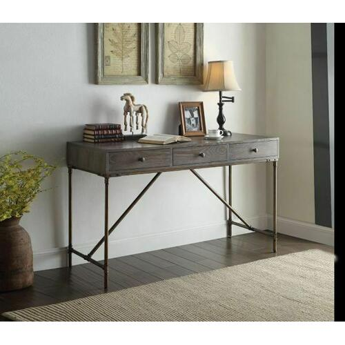Acme Furniture Inc - ACME Glora Desk - 92304 - Dark Oak & Antique Bronze