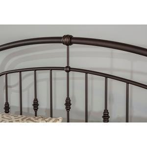 Pearson Queen Bed Set In Oiled Bronze Meta