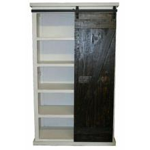 See Details - Ww/15w Barn Door Bookcase