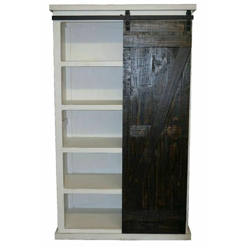 Million Dollar Rustic - Ww/15w Barn Door Bookcase