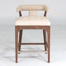 See Details - Moderno Bar Stool-Ivory Marble Leather