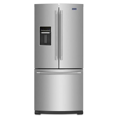 Maytag - 30-Inch Wide French Door Refrigerator with Exterior Water Dispenser- 20 Cu. Ft.
