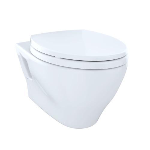 Aquia® Wall-Hung Dual-Flush Toilet, 1.6 GPF & 0.9 GPF, Elongated Bowl - Cotton