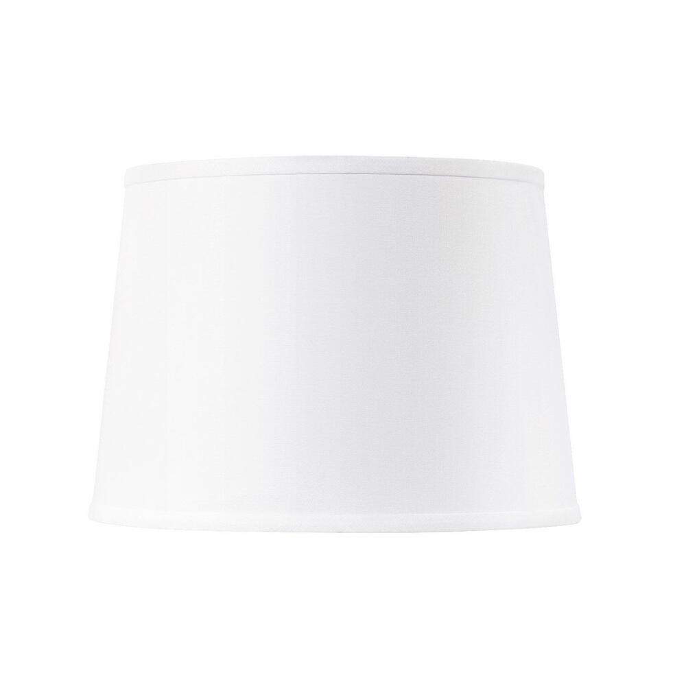 Shade 14-inch with Nickel, White Linen