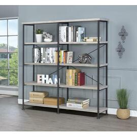 See Details - Guthrie Industrial Grey Driftwood Bookcase