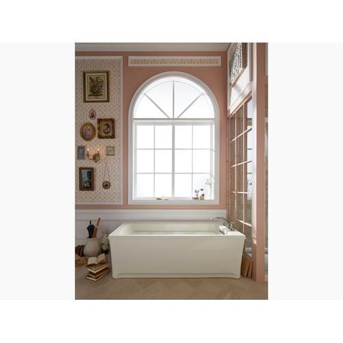 "White 66"" X 36"" Heated Bubblemassage Air Bath With Reversible Drain"