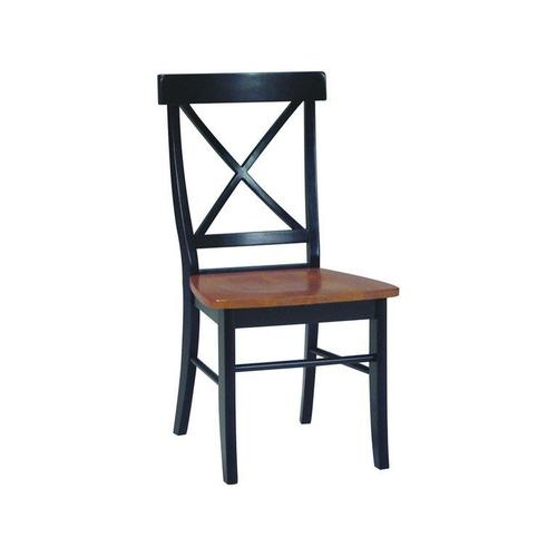 X-Back Chair in Black & Cherry
