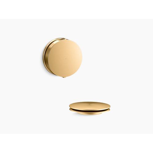Kohler - Vibrant Brushed Moderne Brass Rotary-turn Bath Drain Trim