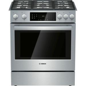 Bosch  800 Series Gas Slide-in Range 30'' Stainless Steel HGI8056UC