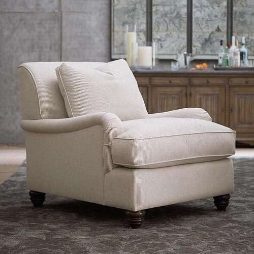 Bridgewater Accent Chair, Arm Style Charles of London