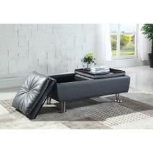 Dilleston Contemporary Grey Storage Ottoman
