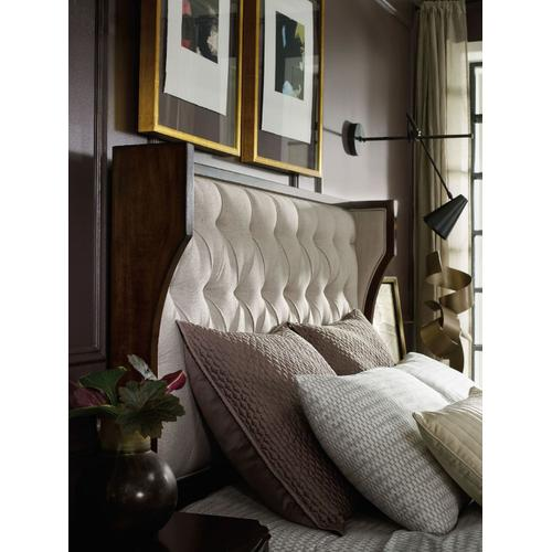 Bedroom 6/6 Uph Shelter Headboard-Taupe