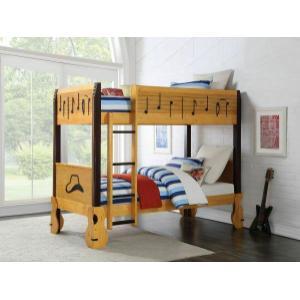 ACME Petrus Twin/Twin Bunk Bed - 37710 - Honey Oak & Espresso