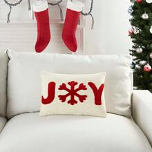 """Holiday Pillows Dv080 Ivory Red 12"""" X 18"""" Throw Pillow"""