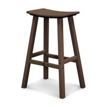 "Mahogany Traditional 30"" Saddle Bar Stool"