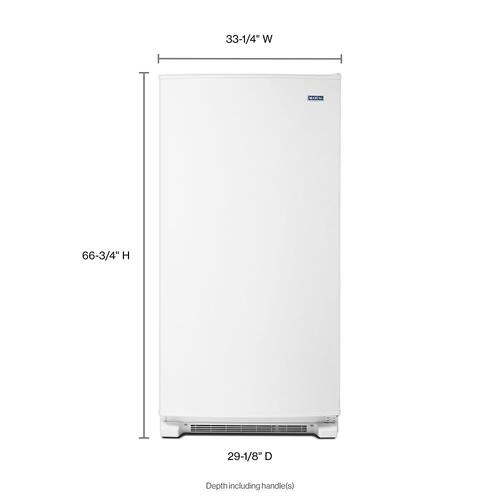 Gallery - 20 cu. ft. Frost Free Upright Freezer with LED Lighting