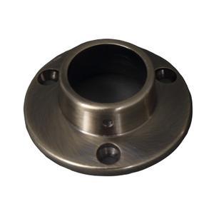Round Shower Rod Flange - Antique Brass Product Image