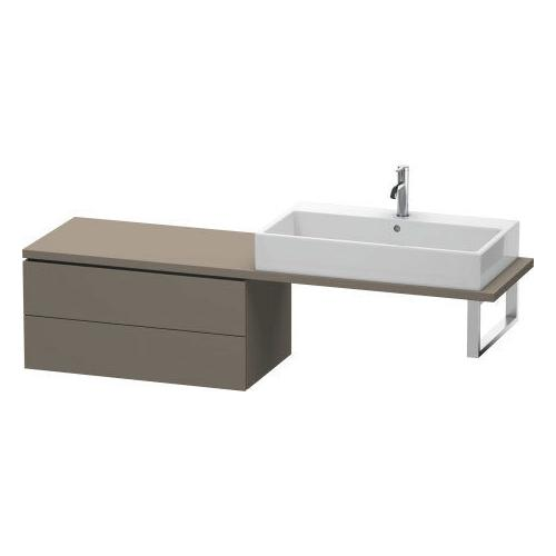Duravit - Low Cabinet For Console Compact, Flannel Gray Satin Matte (lacquer)