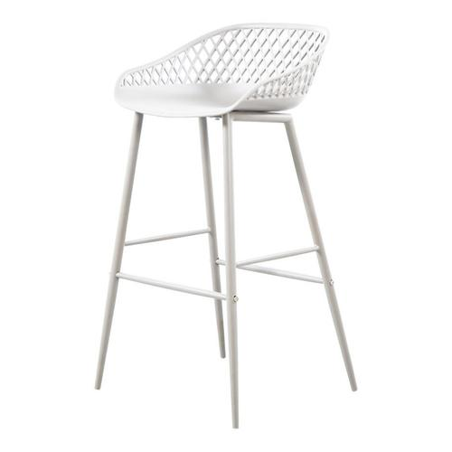 Moe's Home Collection - Piazza Outdoor Barstool White-m2