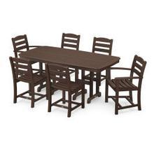 View Product - La Casa Cafu00e9 7-Piece Dining Set in Mahogany
