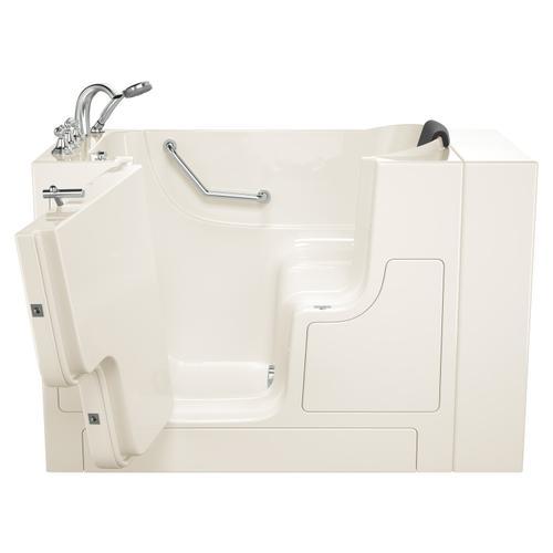 Gelcoat Premium Series 30x52 Inch Walk-in Tub with Outward Facing Door, Left Drain  American Standard - Linen