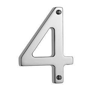 "Samuel Heath - Antique Brass Unlacquered Door numeral ""4"""